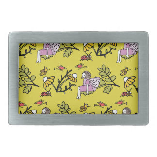 Flower Fairy and Dairy Pattern Belt Buckles