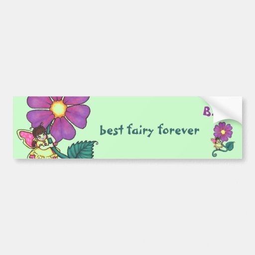 Flower Fairy Bumper Stickers