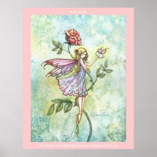 Flower Fairy Bunny  Poster Print