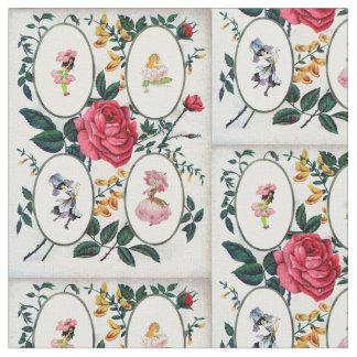 Flower fairy frame vintage design