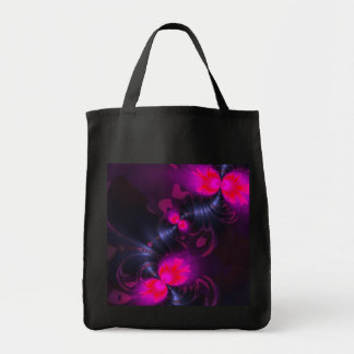 Flower Fairy – Rose and Magenta Ribbons Canvas Bags
