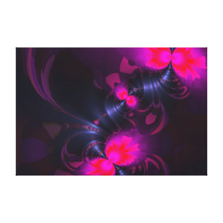 Flower Fairy – Rose and Magenta Ribbons Stretched Canvas Print