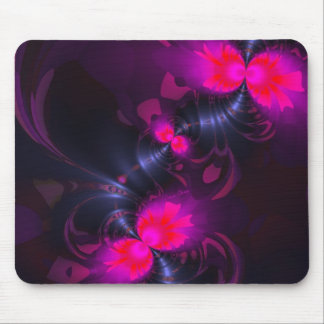 Flower Fairy – Rose and Magenta Ribbons Mousepad