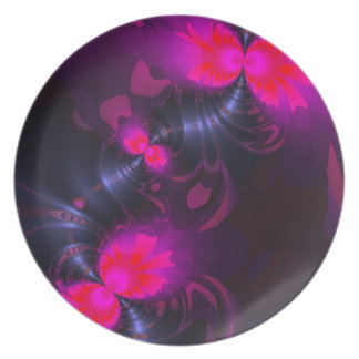 Flower Fairy – Rose and Magenta Ribbons Party Plate