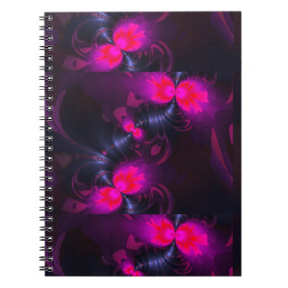 Flower Fairy – Rose and Magenta Ribbons Spiral Notebook