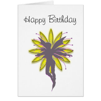 Flower Fairy Silhouette Greeting Card