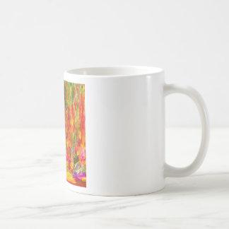 Flower Fal of bright flower coloursl Basic White Mug