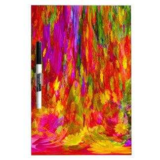 Flower Fal of bright flower coloursl Dry-Erase Whiteboards