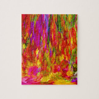 Flower Fal of bright flower coloursl Jigsaw Puzzle