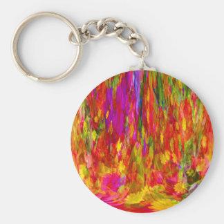Flower Fal of bright flower coloursl Key Ring