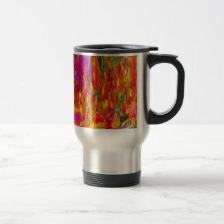 Flower Fal of bright flower coloursl Stainless Steel Travel Mug