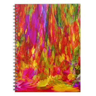 Flower Fal of bright flower coloursl Notebooks