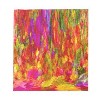 Flower Fal of bright flower coloursl Notepad