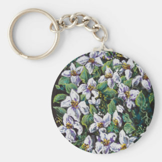 flower fall of white keychain
