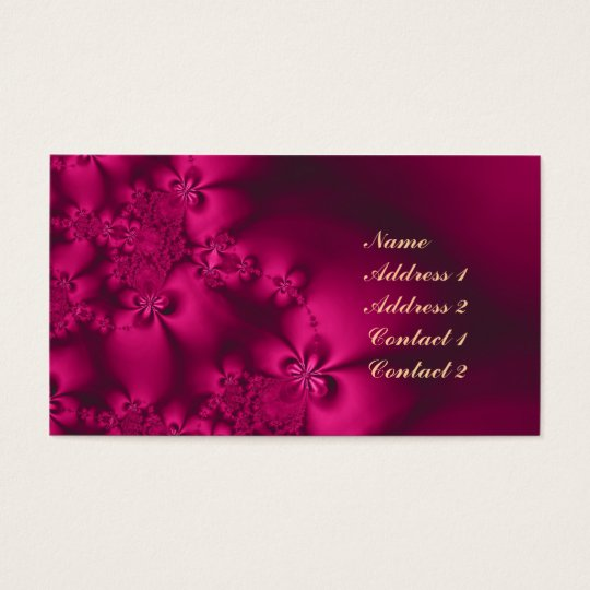Flower, fantasy world profile business card