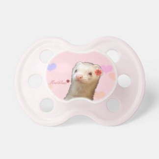 Flower ferret pacifiers
