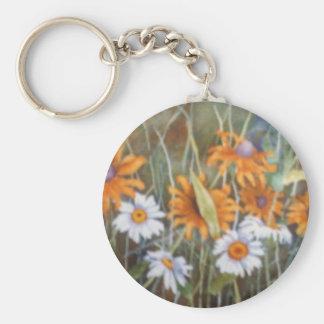 """""""Flower Field #1"""" Floral Keychain"""