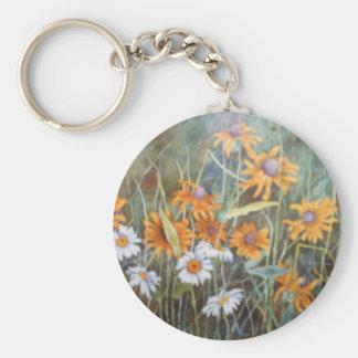 """""""Flower Field #2"""" Floral Keychain"""