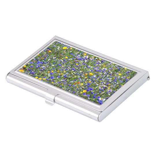 """Flower Field"" Business Card Holder"