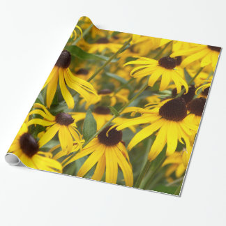 Flower Field of Cheery Black Eyed Susan Flowers Wrapping Paper