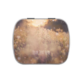 Flower Field Rustic Country Sunset Dusk Favor Jelly Belly Tin