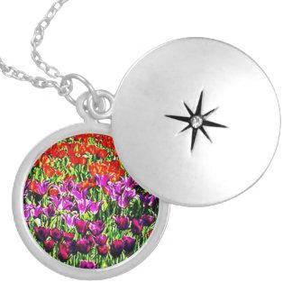 Flower Fields Silver Plated Locket