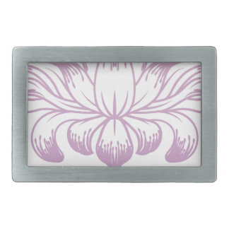 Flower Floral Abstract Concept Icon Rectangular Belt Buckle