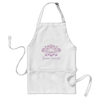 Flower Floral Abstract Concept Icon Standard Apron