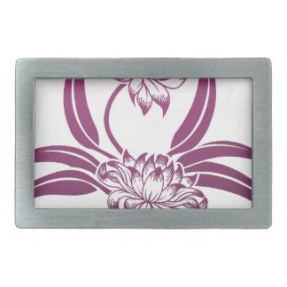 Flower Floral Design Belt Buckle