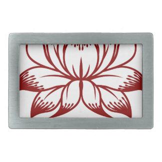Flower Floral Design Concept Icon Belt Buckles