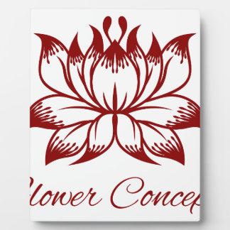 Flower Floral Design Concept Icon Display Plaques