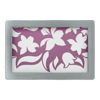 Flower Florist Floral Design Icon Rectangular Belt Buckles