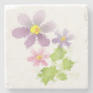 Flower flower mosaic 2 stone coaster