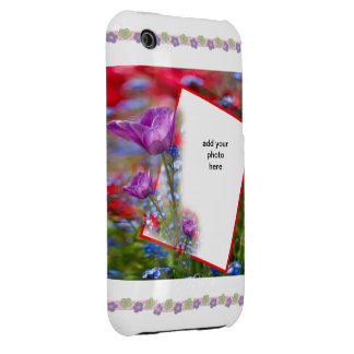 flower frame iPhone 3 cover