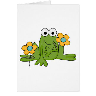 flower froggy frog greeting card