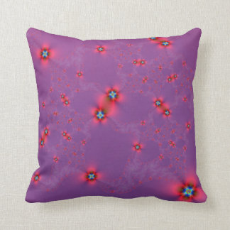 Flower Galaxy in Red on Violet Pillows