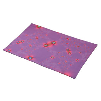 Flower Galaxy in Red on Violet Placemats