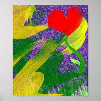 Flower Garden at Twilight Print