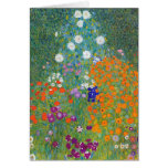 Flower Garden by Gustav Klimt Greeting Cards