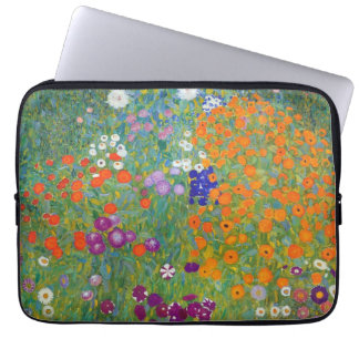 Flower Garden by Gustav Klimt Laptop Computer Sleeves