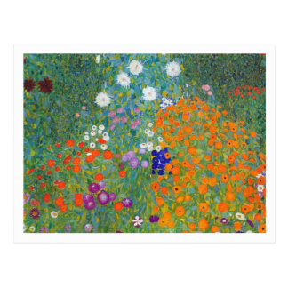Flower Garden by Gustav Klimt Postcard