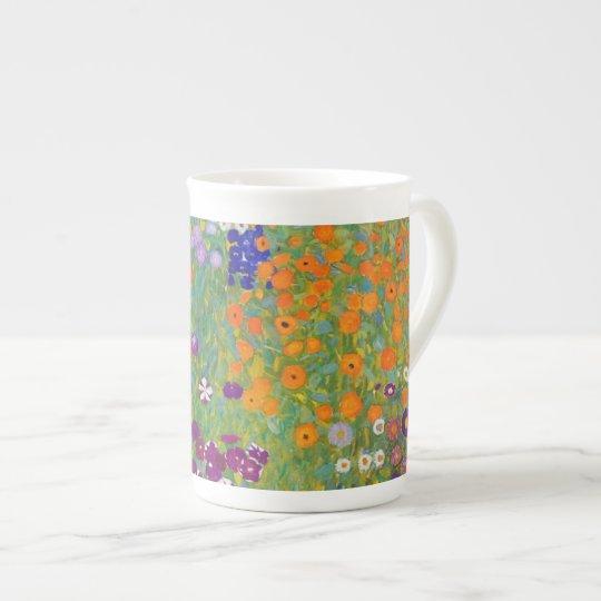 Flower Garden by Gustav Klimt Tea Cup