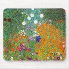 Flower Garden by Gustav Klimt Vintage Floral Mouse Mat