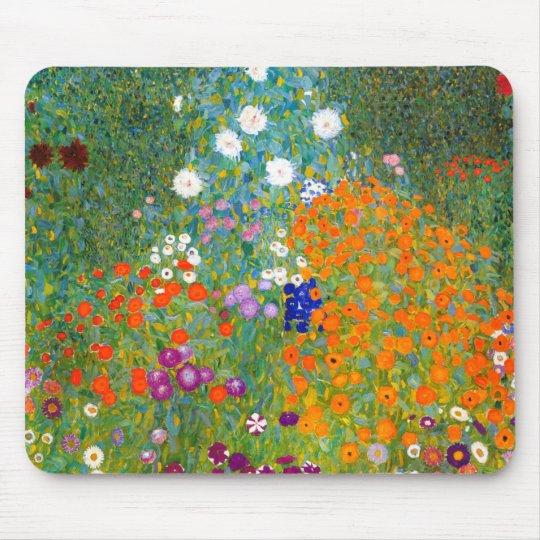 Flower Garden by Gustav Klimt Vintage Floral Mouse