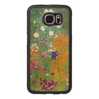 Flower Garden by Gustav Klimt Vintage Floral Wood Phone Case