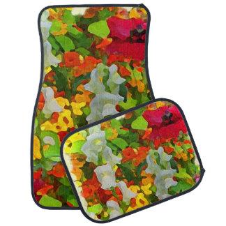 Flower Garden Colors Floor Mat