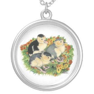 Flower Garden Ducklings Custom Necklace