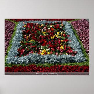 Flower garden, Durham City Print
