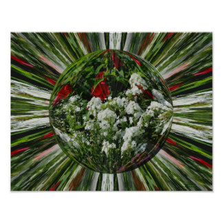 Flower Garden Energies Floral Abstract Print