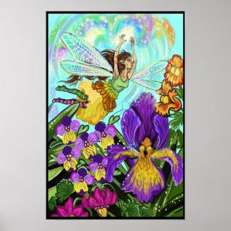 Flower Garden Fairy Magic Poster